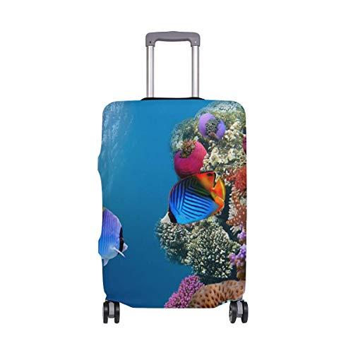 IUBBKI Funda de Equipaje de Viaje Ocean Fish Coral Underwater World Protector...