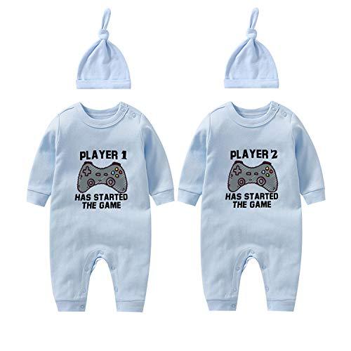 culbutomind Baby Twins - Mameluco con estampado de jugador1 jugador2 ha Stared The Game ropa para recién nacidos