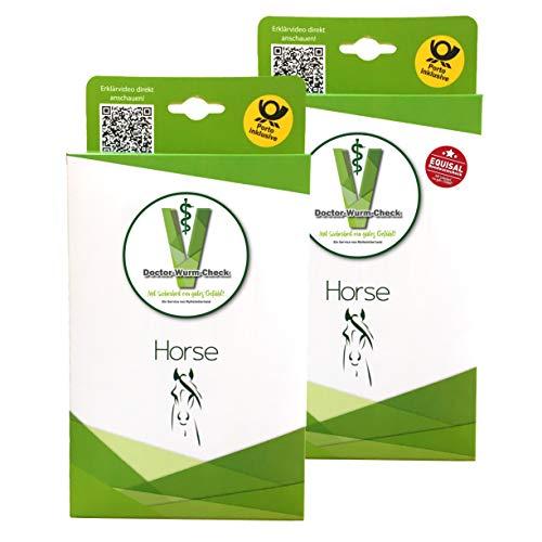 Kombipaket Selektive Entwurmung 1 Check für Pferde + 1 EQUISAL Bandwurm-Check der praktische Speicheltest