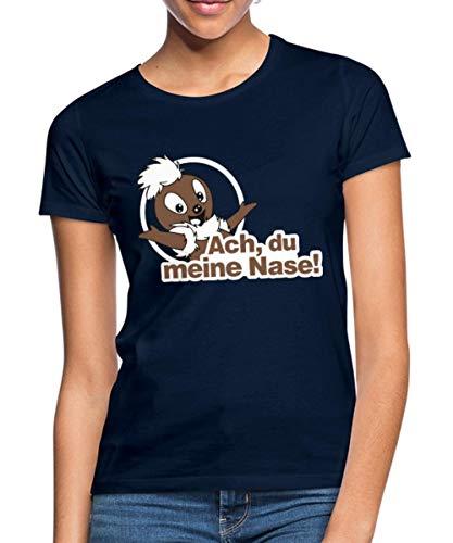 Sandmännchen Pittiplatsch ACH Du Meine Nase Frauen T-Shirt, S, Divablau
