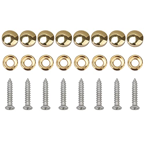 SHANOER 8 Pcs 12mm Dia Brass Mirror Screws with Decorative Cap Cover Nails,Golden Finish ?-
