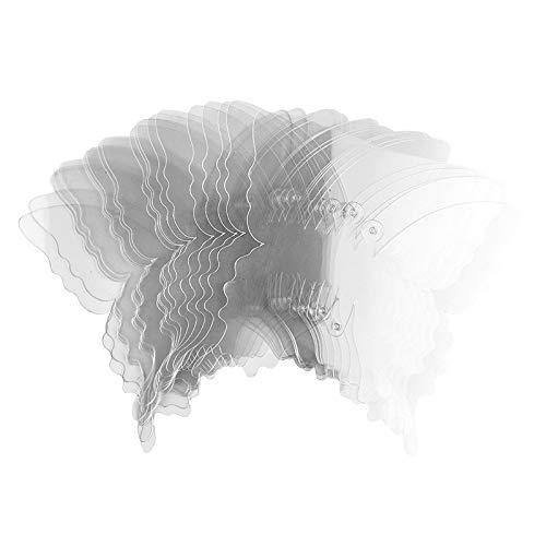 Ideen mit Herz Windradfolien-Scheiben | Transparent-Folie | Mobile-Folie | transparent | ausgestanzte Motive mit Loch für Aufhängung | 0,5 mm | 20 Stück (Schmetterling | 16cm x 14,5cm)