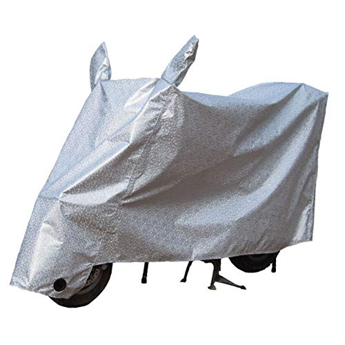 RUIXINLI Cubierta de Motocicleta Anti Polvo Cubierta de Motocicleta Plegable reflexivo previene Sol Nieve Lluvia al Aire Libre Impermeable protección Espesada (Size : XL)