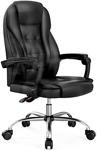 WYL Bseack Computer Chair Ergonomics Office Desk Chair Double Thick Cushion PU Leather Chair Hright Adjustable Computer Desk Chair for Office Meeting Room