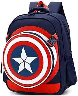 Captain America Shield School Bag for 8-15 Ages Kids Children Student Backpack school Bag