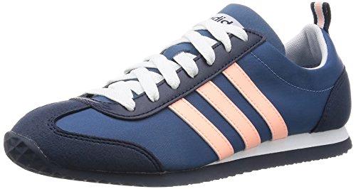 Neu Damen/Damen Blau Adidas Neo Vs Joggen Turnschuhe - blau/Rosa - UK GRÖßEN 3.5-6 - BLAU/ROSA, 37.5