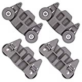 [UPGRADED] W10195416 Lower Dishwasher Rack Wheel Assembly Replacement Part for Whirlpool Kenmore AP5983730, W10195416V, W10105417, PS11722152, W10195416VP, Enhanced Durability with Steel Screws -4Pack