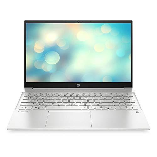 HP Pavilion 15-eg0277ng (15,6 Zoll / FHD IPS) Laptop (Intel Core i7-1165G7, 16 GB DDR4, 1 TB SSD, Intel Iris Xe Grafik, Windows 10 Home) Silber