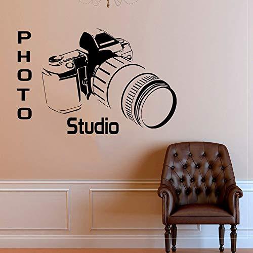 hllhpc Po Studio camera muursticker Vinyl Home Decor Art zelfklevend op de muur verwijderbare folie, zelfklevend, voor muurschilderingen, ramen, 86 x 57 cm