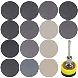 182 unids set 1 pulgada 3 mm Shank lijado pad papel de lija con espuma interfaz Pad para auto cuidado faro reparación madera vidrio