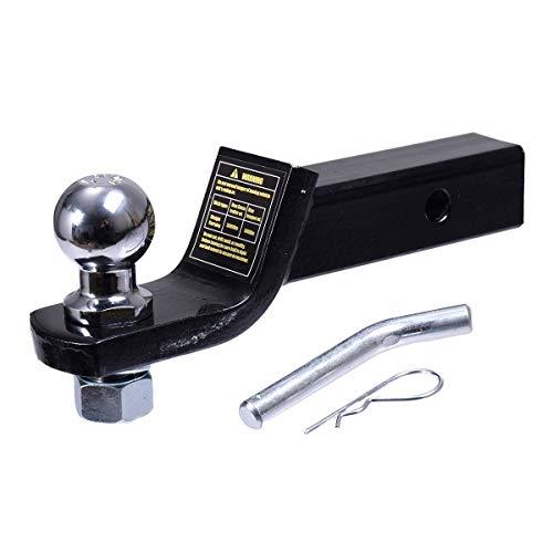 Enganche de remolque de fabricación, receptor de enganche de lengüeta de montaje en bola de remolque de 2 pulgadas/50 mm para remolque de camión de remolque de caravana