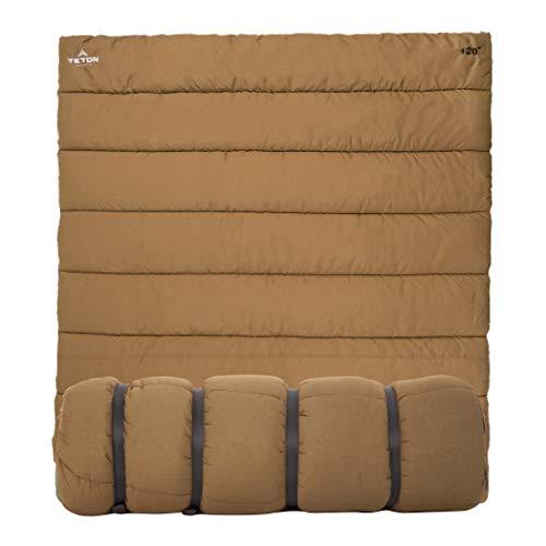TETON Sports Unisexs Evergreen Canvas sleeping Tan 20F40F Double Bag
