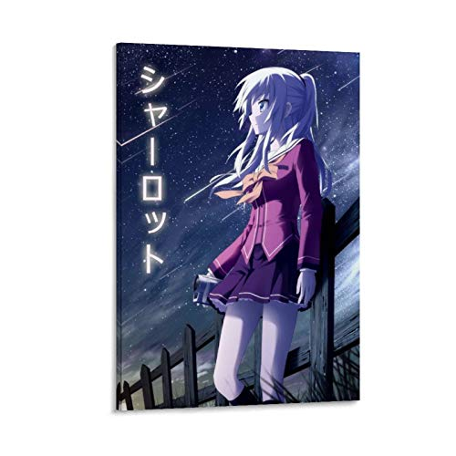Zhanyun Charlotte Anime Poster Decorative Painting Canvas Wall Art Living Room Posters Bedroom Painting 12x18inch(30x45cm)