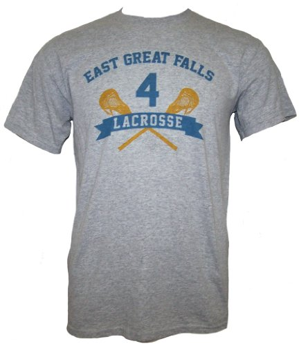 American Pie EAST GREAT FALLS LACROSSE Mens Short Sleeve T-Shirt - Gry 2XL