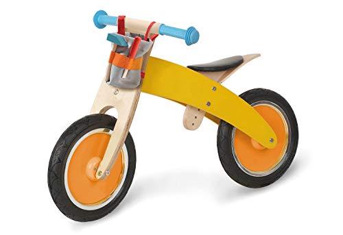 Pinolino Loopfiets bill, van hout, onplatbare banden, ombouwbaar van chopper naar loopfiets, met stuurtas en gereedschap, vanaf 2 jaar, kleurrijk