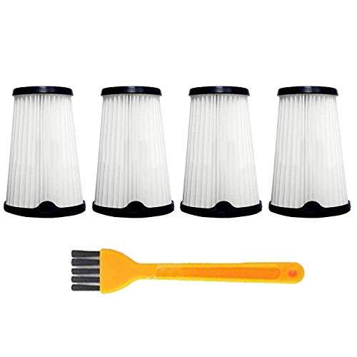 4 Stück Filter Kompatibel mit AEG CX7-2 AEF150 Ergorapido Staubsauger, Ersatz HEPA-Filter Ersatzteile Zubehör, Ersatzfilter Filterset Innenfilter Staubsaugerfilter mit 1 Stück Reinigungsbürste