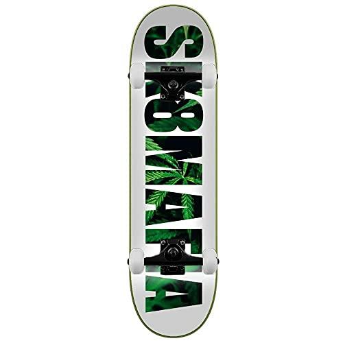 SK8 Mafia Leaves - Skateboard completo, 21,1 cm, colore: Bianco