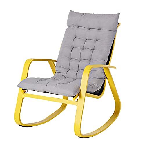 LIXIONG Schaukelstuhl, Entspannend Liege zum Erwachsene, Sessel Salon Sitz mit Komfortabel Gepolstert zum Wohnzimmer Schlafzimmer, 3 Farben (Color : Yellow, Size : 91x30x87cm)