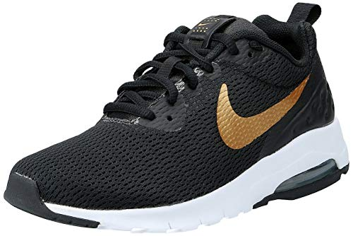 Nike Damen WMNS Air Max Motion Lw Fitnessschuhe, Schwarz (Black/Metallic Gold 002), 40.5 EU