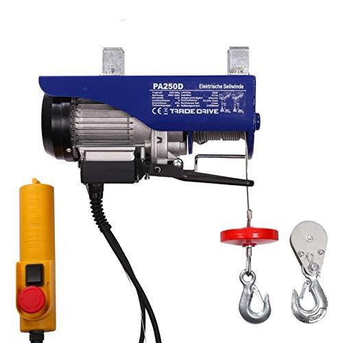 Elektrische Seilwinde Seilzug 150 kg / 300 kg 12 m/6 m mit Kabelfernbedienung Motorwinde