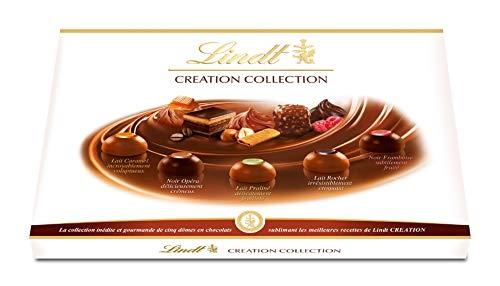 Lindt - Boîte CREATION Collection - Chocolats au Lait & Noir - Raffinés - 455g