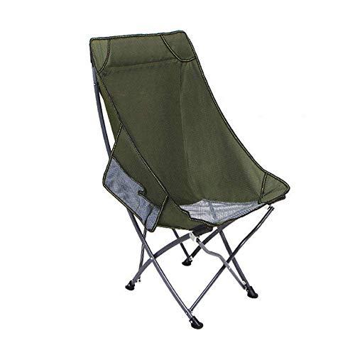 WJXBoos Sillas de Camping Silla de Picnic al Aire Libre Silla Plegable portátil Silla de Pesca Chaise Longue Adecuado para excursiones de Camping al Aire Libre