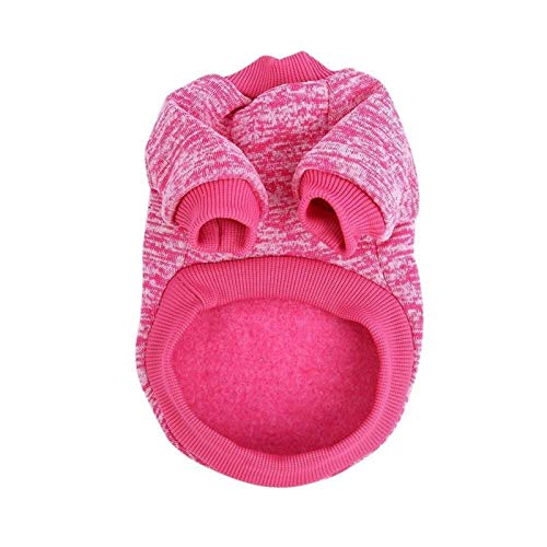 LIUCHANG Suéter para perro, suave, cálido, otoño, invierno, ropa de lana, para perros (color: rojo, tamaño: L) liuchang20