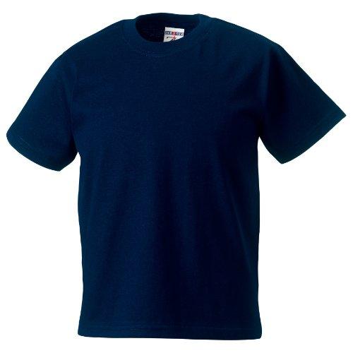 Jerzees Schoolgear T-Shirt 100 % coton pour fille M bleu foncé
