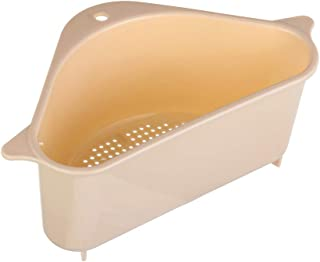 Eadorns Drain Rack,Household Sponge Triangle Storage Holder Racks Kitchen Drain Rack Strainer Sink Shelf for Bathroom/Kitchen(Beige)