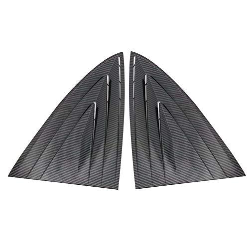 HYSJLS 2 unids car styling lado trasero negro ABS etiqueta carbono fibra obturador cuarto ventana Louver escudo cubierta TRIM ventilación para modelo 3 accesorios