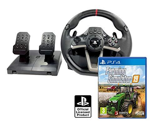 Volant et pédales PS4 PS5 Originale Sous licence PlayStation 4 RWA Apex + Farming Simulator 19