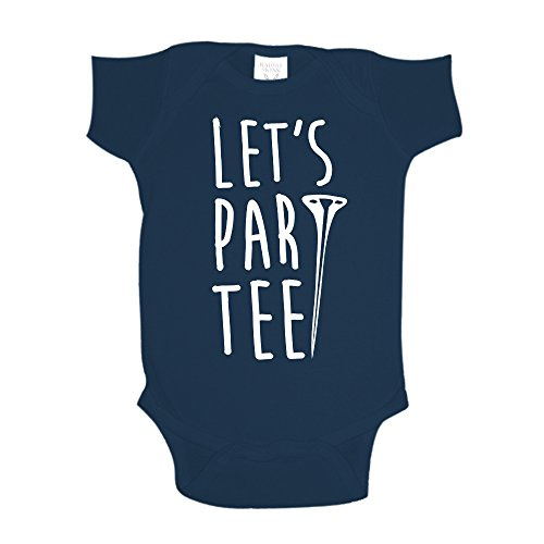 Let's Par Tee Golf Baby One Piece 12 mo Navy Blue