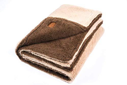 """Ritter Decken Alpaka Decke """"La Paz 140 x 220 cm braun/beige (ungefärbt) aus 100prozent Alpaka (Natur) weich. Wolldecke aus eigener Herstellung. Geeignet als Wohndecke, Kuscheldecke & Tagesdecke"""