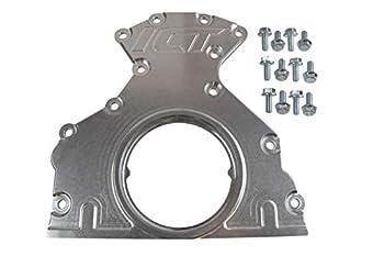 ICT Billet LS Rear Main Cover Plate Engine Seal Billet Aluminum Housing LS1 LS3 LS7 LM7 LR4 LQ4 L59 LQ9 LM4 L33 LH6 L92 L76 LY2 LY5 LY6 LC9 LFA LH8 LMG L98 L20 L94 LZ1 L99 L96 551727
