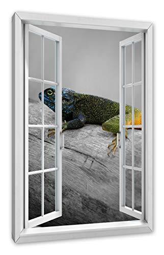 Pixxprint prachtige smaragddeas, ramen canvasfoto | muurschildering | kunstdruk hedendaags 60x40 cm