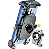 """KEWIG Bike Phone Mount for Motorcycle - Bike Handlebar, One Touch Lock Motorcycle Phone Mount with Aluminum Alloy Mounting Base, Tool-Free Installation Bike Phone Holder Fit 4"""" - 7"""" Cellphones"""