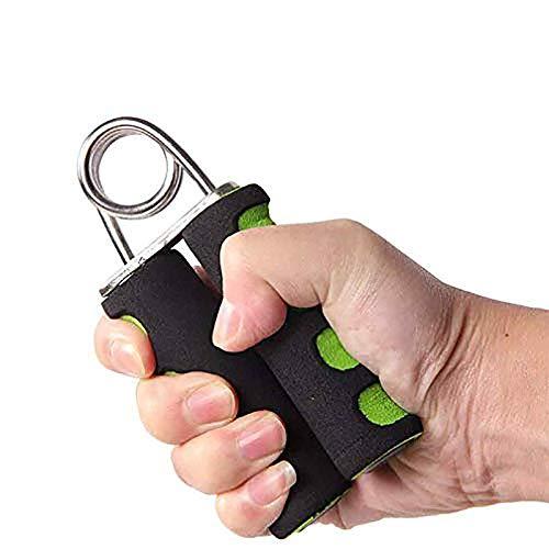 Maveek A shape Foam Handle Hand Grips Gripper Arm Muscle Builder Wrist Resistance Strengthener (Black/Green)