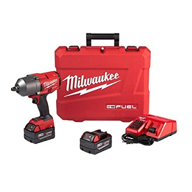 Milwaukee Electric Tool 2767-22 M18 Fuel, Cordless, Lithium-Ion, 1/2  High-Torque Impact Wrench