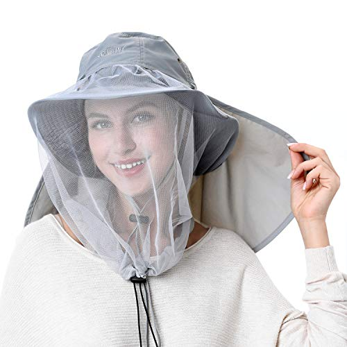 Sun Hat Safari Hat Away from Insect and Bug Palmyth Mosquito Head Net Hat