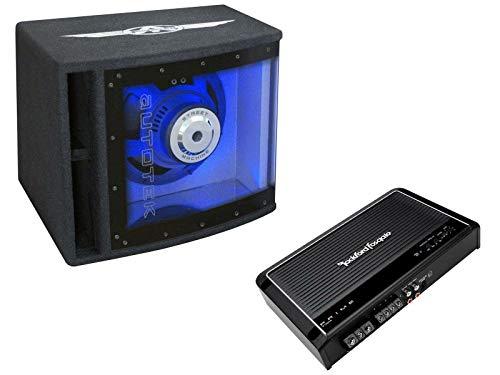Autotek Rockford Fosgate Basspaket Set 25 cm Subwoofer 2-Kanal Verstärker 500 Watt