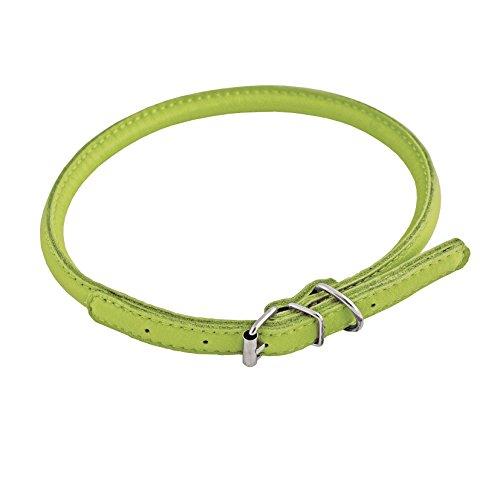 CHAPUIS SELLERIE Collier Rond en Cuir pour Chien Vert 6 mm 25-33 cm