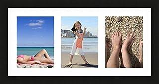 Cadre triptyque Profil de Cadre 2 cm ! Ray /& Chow Tripler Cadre Photo 10 x 15 cm Vitre en Verre Blanc Syst/ème daccroche Inclus Bois de Pin Massif ou Une Photo panoramique