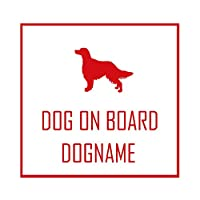 ForzaGroup 全犬種 全猫種対応 アイリッシュセッター2 (1902) 犬 イヌ いぬ dog 防水 車 ステッカー sticker シール 名前入れ 名前入り