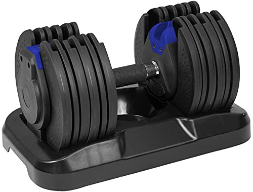 Strongology Home Fitness Adjustable Smart Dumbbell upto 20 kg Training Weights in Black