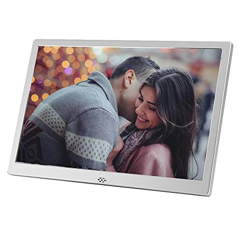 LaMi Digital Picture Frame 12 Inch Electronic Photo Frame &1280x800 High Resolution IPS Widescreen Display - Calendar/Clock Function, MP3/ Photo/Video Player with Remote Control, Support SD Card & USB