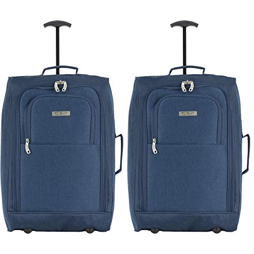 Flight Knight Carry On Cabin Suitcase easyJet Ryanair Approved 2 Wheels Lightweight Bag Ideal for Airline Travel 55x35x20cm