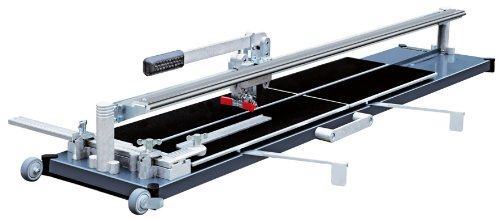 Kaufmann Fliesenschneider TopLine PRO 1250 mit einer Gesamtschnittlänge von 1250 mm und 2 Führungsschienen Robust Ausführung mit Stahl-Grundplatte 10.848.05