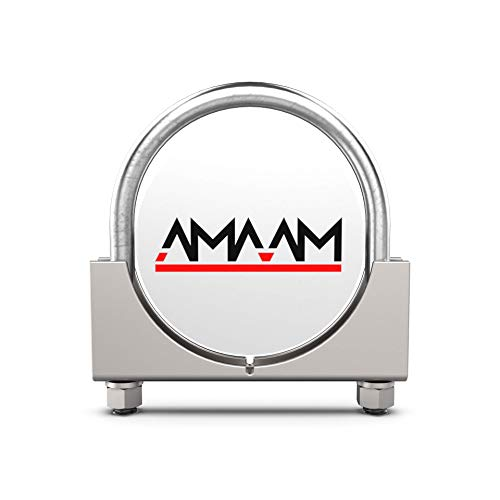 AMAAM Heavy Duty Saddle Style U-Bolt Muffler Clamps