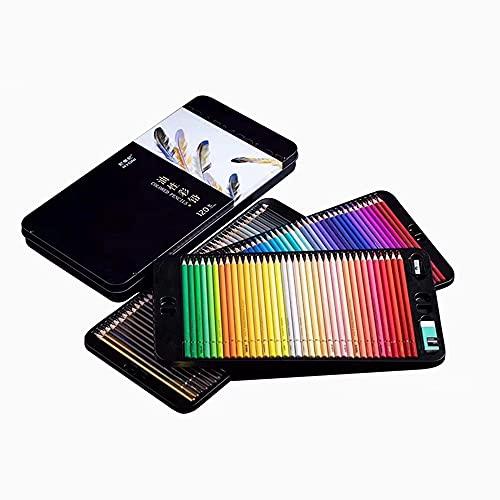 뇨니 오일 기반 120가지 색상의 연필 세트 전문 아티스트 초보자 학생 뛰어난 색상 혼합 레이어링 능력 그리기 공급품