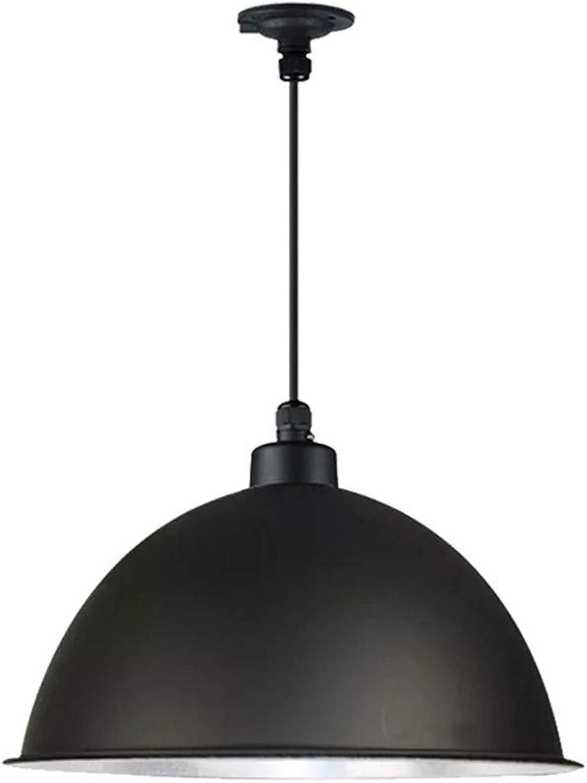 Éclairage éclairage intérieur chambre restaurant salon café bar lustre rond vintage, 30 × 30 × 15 cm, noir